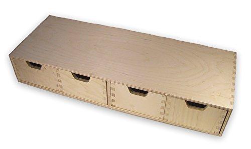 ikea zeitschriftensammler knuff holz aufbewahrungsbox im 2 er set 9x24x31cm und 10x25x31cm. Black Bedroom Furniture Sets. Home Design Ideas