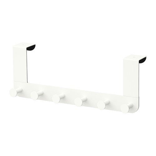 ikea enudden aufh nger f r t r in wei 6er hakenleiste aimnexa. Black Bedroom Furniture Sets. Home Design Ideas