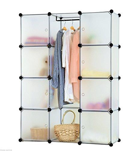 kronenburg regalsystem steckregal schrank regal kleiderschrank garderobe transparent 184 x. Black Bedroom Furniture Sets. Home Design Ideas