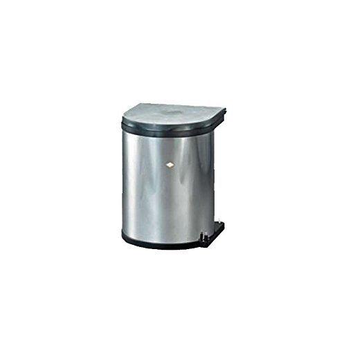 wesco 10114 42 einbaueimer abfallsammler inhalt 11 liter rund farbe aluoptik aimnexa. Black Bedroom Furniture Sets. Home Design Ideas