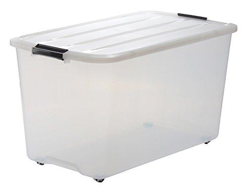 iris 6er set stapelbare aufbewahrungsboxen top box mit deckel und klickverschluss 45 liter. Black Bedroom Furniture Sets. Home Design Ideas
