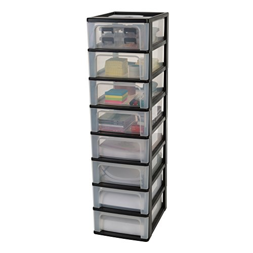 Iris schubladencontainer schubladenschrank organizer chest och 2008 kunststoff schwarz - Colonne rangement plastique ...