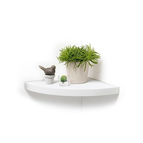 modul home eckregal mdf spanplatte wei 25x25x3 4cm. Black Bedroom Furniture Sets. Home Design Ideas