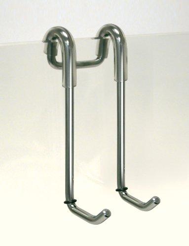 fackelmann 61238 doppelhaken glas duschwand edelstahl silber aimnexa. Black Bedroom Furniture Sets. Home Design Ideas