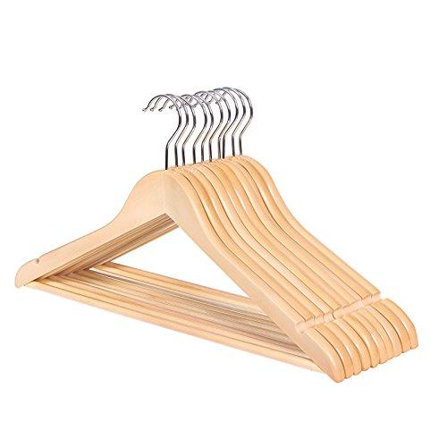 songmics kleiderb gel 10 st ck aus holz ohne kanten. Black Bedroom Furniture Sets. Home Design Ideas