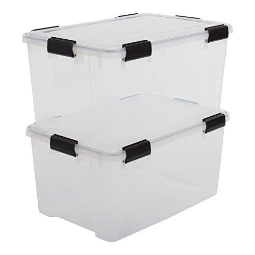 iris 3er set stapelbare aufbewahrungsboxen top box mit deckel und klickverschluss 30 liter. Black Bedroom Furniture Sets. Home Design Ideas