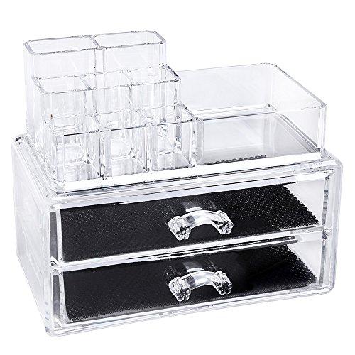 songmics kosmetik aufbewahrung organizer schubladen acryl jka012 aimnexa. Black Bedroom Furniture Sets. Home Design Ideas