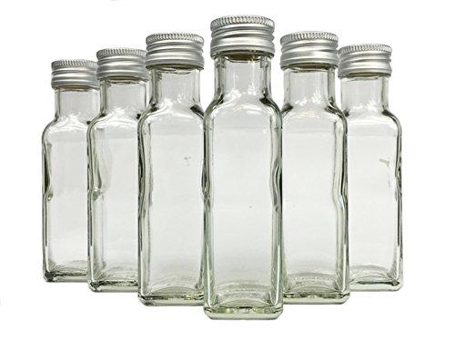 gouveo 12 leere glasflaschen 250 ml maraska incl schraubverschluss und rezeptbrosch re eckig. Black Bedroom Furniture Sets. Home Design Ideas