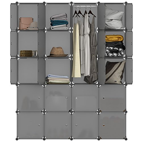 langria stufenregal 20 kubus regalsystem lagerregal kleiderschrank garderobe mit transluzenten. Black Bedroom Furniture Sets. Home Design Ideas