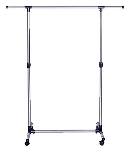 songmics llr01l kleiderst nder ausziehbar mit rollen metall blau 150 x 44 x 165 cm aimnexa. Black Bedroom Furniture Sets. Home Design Ideas
