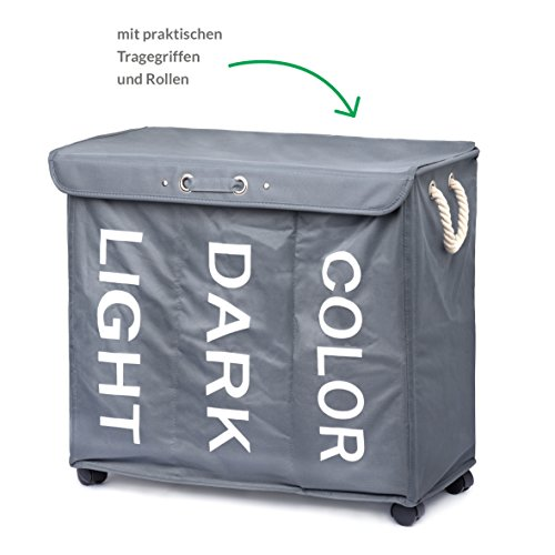 minuma w schekorb w schesortierer mit rollen und tragegriffen 96 liter fassungsverm gen 3. Black Bedroom Furniture Sets. Home Design Ideas