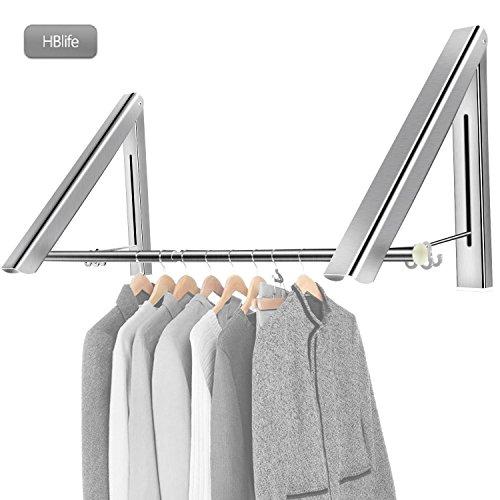 hblife kleiderhaken klappbar wand kleiderst nder kleiderl fter wandgarderobe garderobenhaken. Black Bedroom Furniture Sets. Home Design Ideas