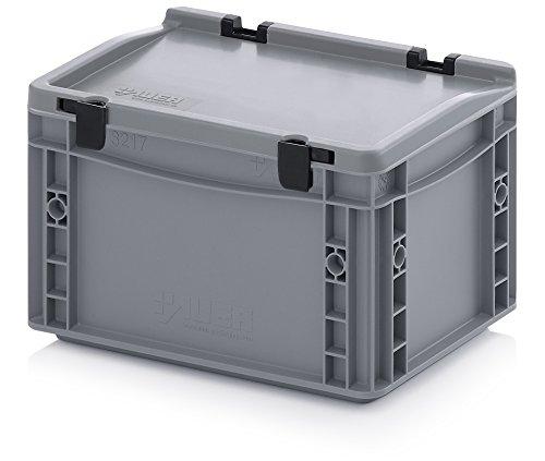eurobeh lter eurobox 60 x 40 x 28 5 cm mit scharnierdeckel. Black Bedroom Furniture Sets. Home Design Ideas