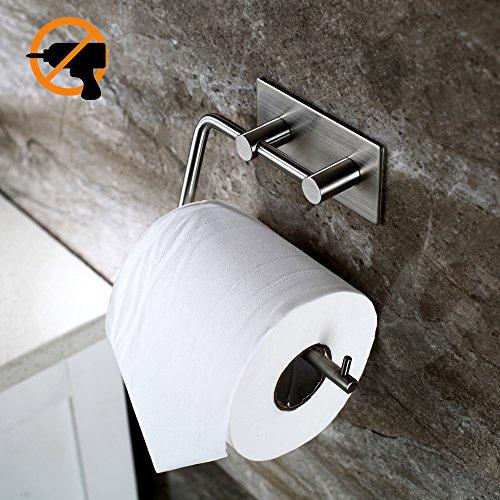 vanten edelstahl toilettenpapierhalter klopapierhalter selbstklebend ohne bohren wc bad. Black Bedroom Furniture Sets. Home Design Ideas