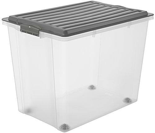rotho 1164908812 roll box compact mit deckel und 4 stabilen rollen aufbewahrungsbox aus. Black Bedroom Furniture Sets. Home Design Ideas