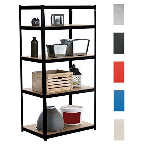 clp schwerlastregal big aus metall mit einer tragkraft von 1325 kg lagerregal mit 5 b den und. Black Bedroom Furniture Sets. Home Design Ideas