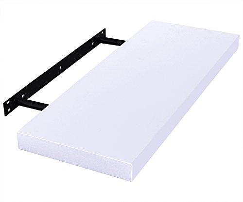 woltu rg9234ws c wandboard wandregal cd dvd b cherregal regalsysteme pu lackiert 100 22 9 3. Black Bedroom Furniture Sets. Home Design Ideas