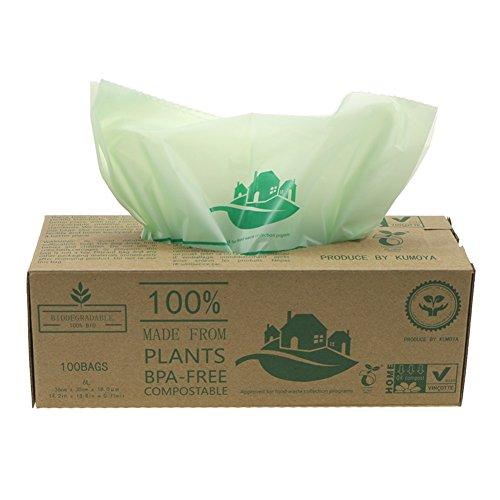 biobag kompostierbarer k chenm llsack 6 10 liter biologisch abbaubar gr n kompostieranleitung. Black Bedroom Furniture Sets. Home Design Ideas