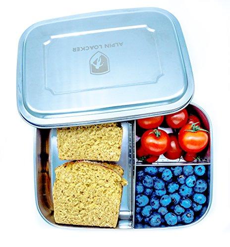 alpin loacker neue version edelstahl lunchbox f r kinder und erwachsene mit faltg ffel brotdose. Black Bedroom Furniture Sets. Home Design Ideas