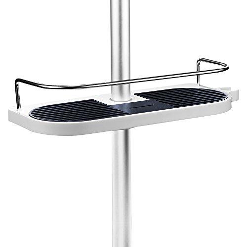 merisny duschstangen ablage badezimmer dusche rack verstellbar h he kein bohren bad aufbewahrung. Black Bedroom Furniture Sets. Home Design Ideas