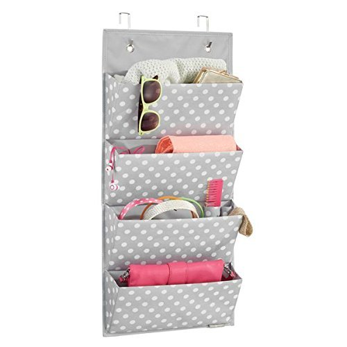 mdesign h ngeaufbewahrung mit 4 taschen schlafzimmer aufbewahrung f r schuhe accessoires und. Black Bedroom Furniture Sets. Home Design Ideas
