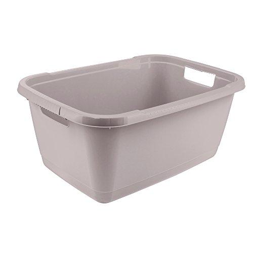 3er Pack Transportkorb 40 L grün Wäschetonne Obstkorb  Aufbewahrungsbox  Plastik